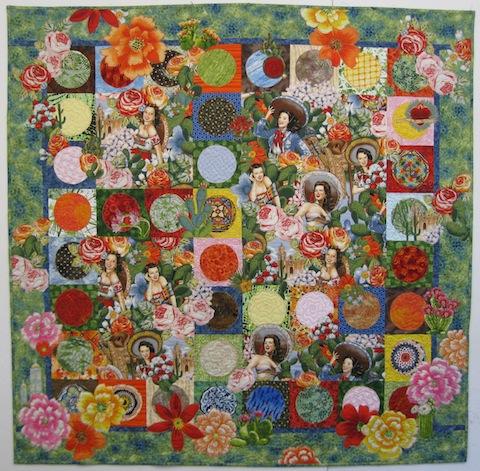 Fiesta Beauties quilt, by Alethea Ballard; 2012