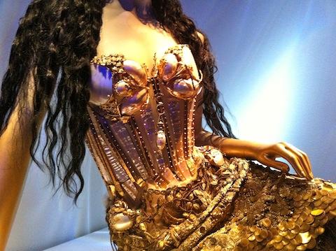 Bustier on mermaid dress