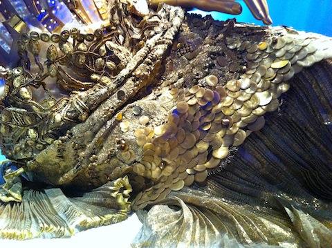 detail of mermaid dress