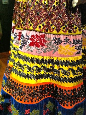 detail of Folklorico skirt