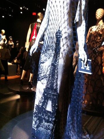 detail of Paris dress