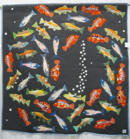 detail of quilt by by Yoshiko Katagiri