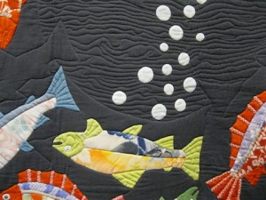 detail of quilt by by Yoshiko Katagiri