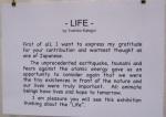 Life exhibit description