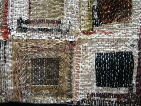 detail of Held Together by a Thread, by Susan Lenz
