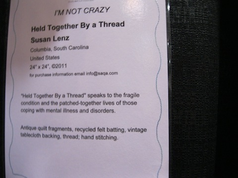 Held Together by a Thread, by Susan Lenz