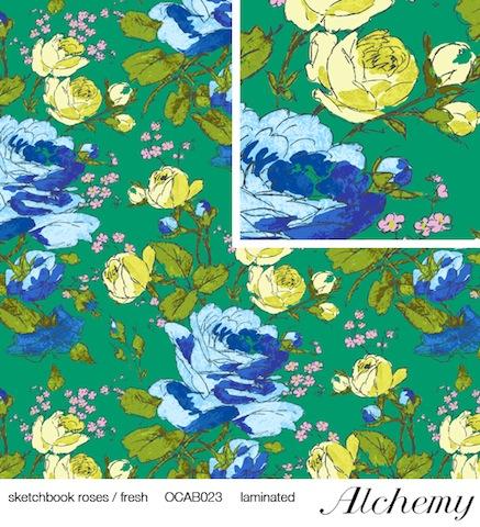 Amy Butler sketchbook roses laminated