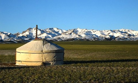 "My Mongolian yurt and the ""hills"""