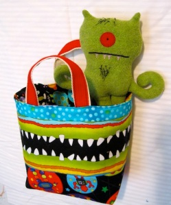 Busy Monster fabric bag