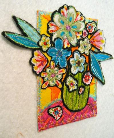 Fabric Bouquet postcard, by Alethea Ballard