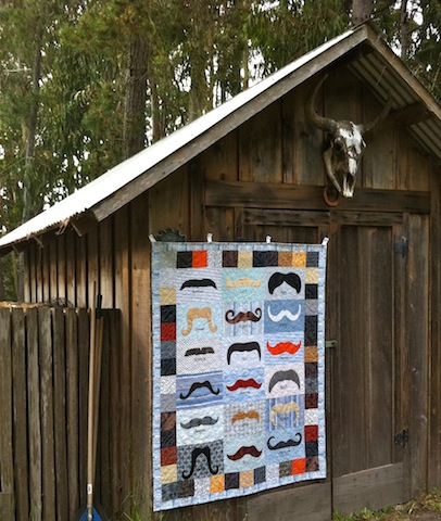 Awesome Mustache Quilt, by Alethea Ballard; 2013