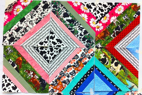 Norman's Quilt - 6 completed blocks