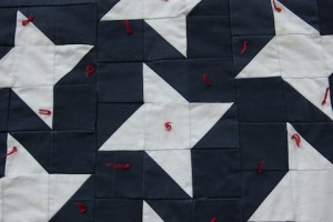 Star section detail from All-American Flag Quilt, by Alethea Ballard