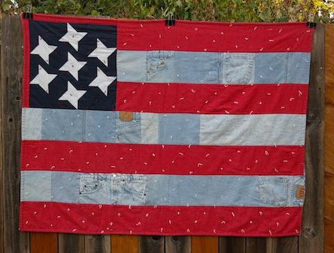 All-American Flag Quilt, by Alethea Ballard; 1998