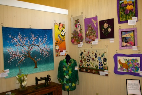 Wonderful wall hangings and wearable art