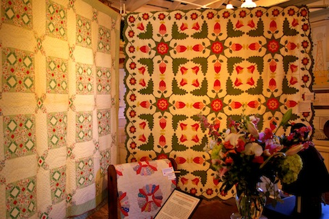 The 1850 Whig Rose quilt and vintage friends
