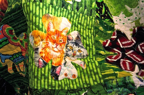 Detail of Bit O'Blarney Quilt, by Alethea Ballard
