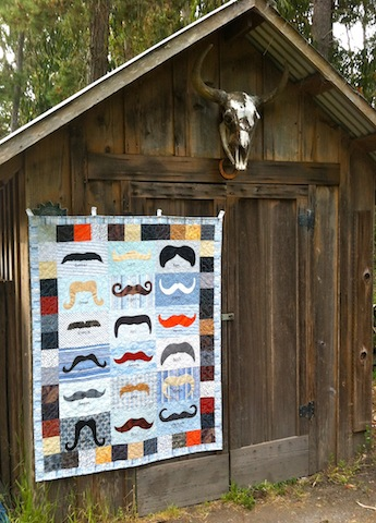 Awesome Mustache quilt