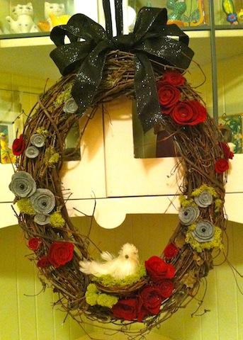 Black Bow Wreath