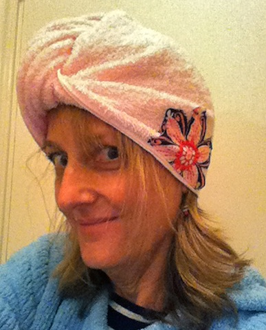 Modeling the hair wrap - gift of the season!