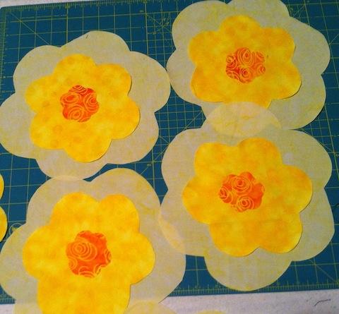 Yellow six-petaled flowers