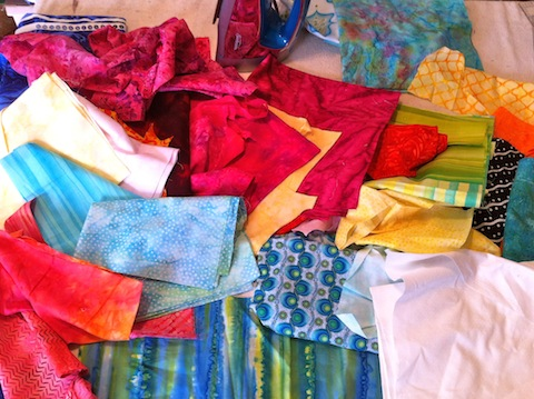 More fabrics for the background