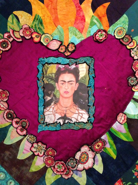 Center in Progress. Adding appliques and a frame