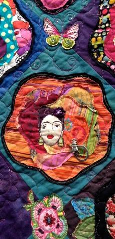 Frida Flower detail - Kelly Ibarra's block