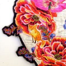 Poppy Wreath, left detail